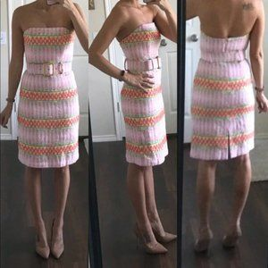 Milly of New York Strapless Pencil Dress No Belt